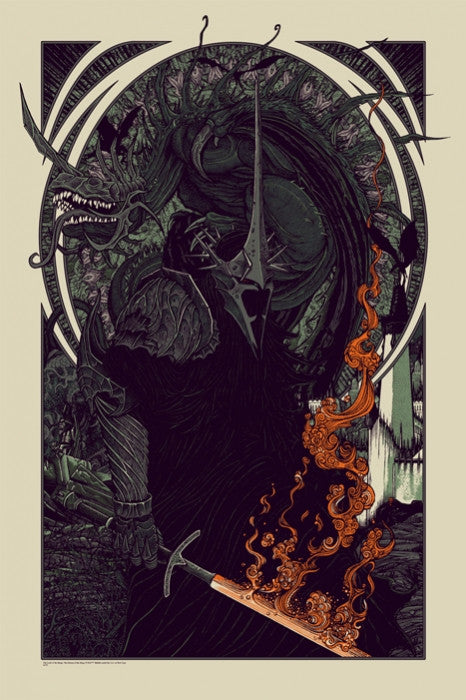 Witch King and Fell Beast Florian Bertmer poster