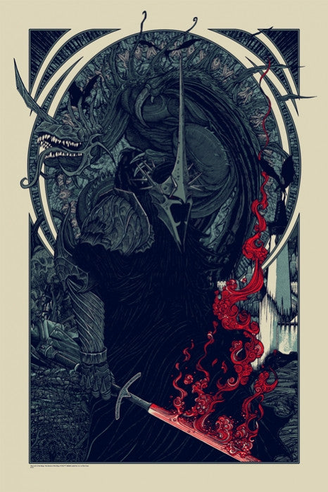 Witch King and Fell Beast Variant Florian Bertmer poster