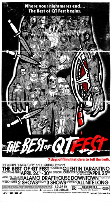 The Best Of QT Fest  Variant Tyler Stout poster
