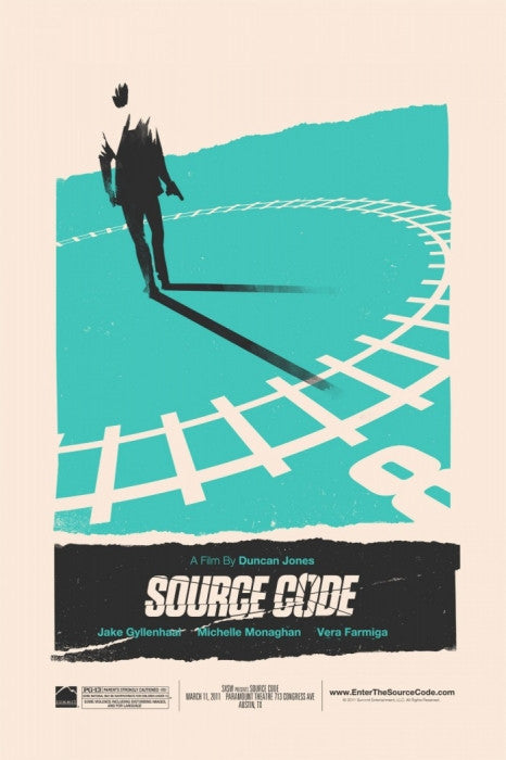 Source Code Olly Moss poster