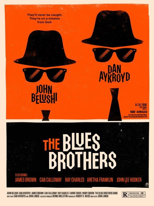 The Blues Brothers Olly Moss poster
