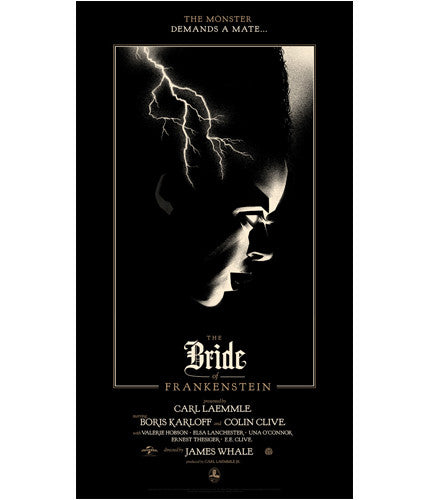 The Bride of Frankenstein   Moss Olly Moss poster