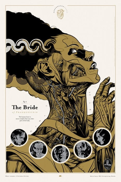 Bride of Frankenstein  Martin Ansin poster