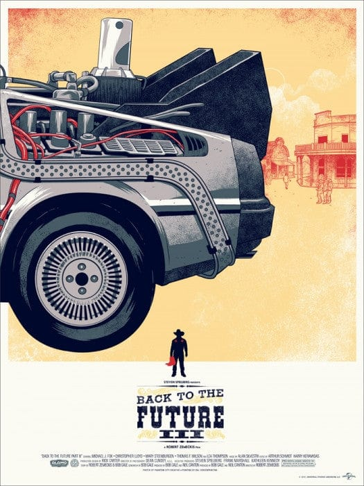 Back to the Future Part III Phantom City Creative poster
