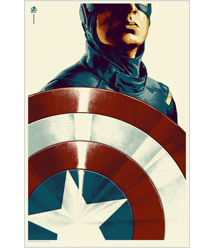 The Avengers Captain America Phantom City Creative poster