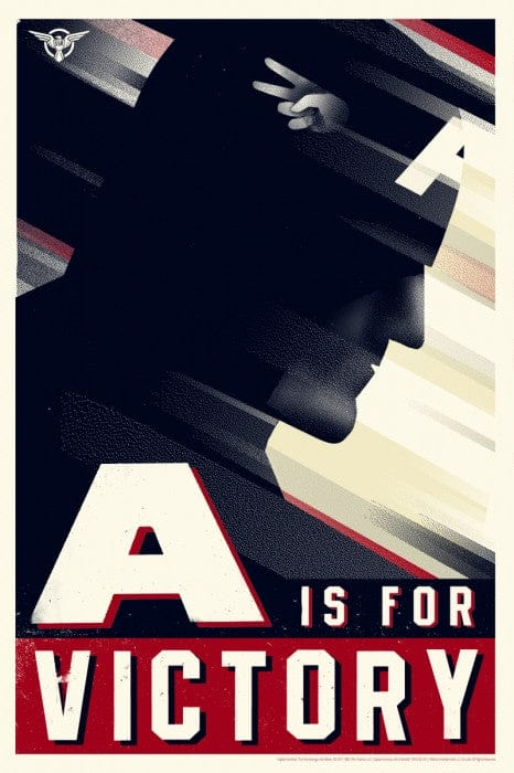 Captain America Olly Moss poster