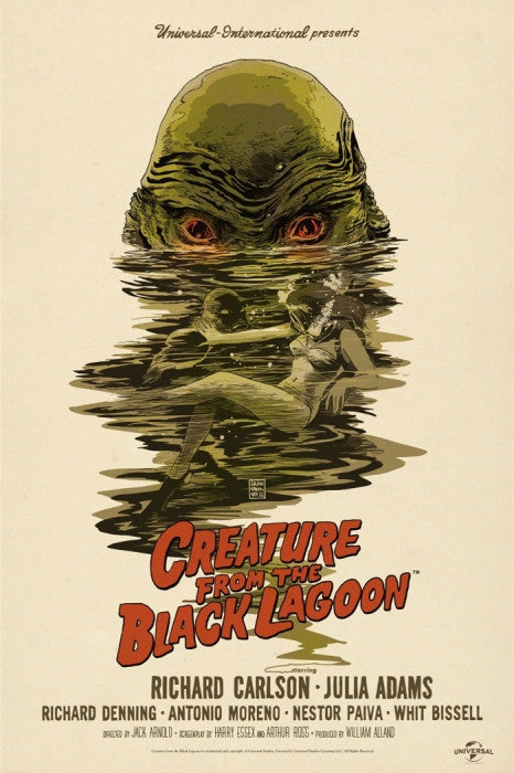The Creature from the Black Lagoon-Francesco Francavilla-poster