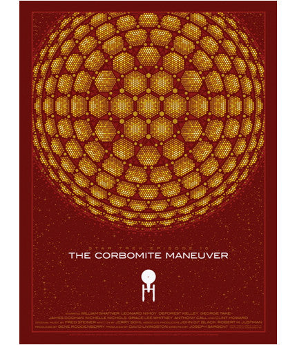Star Trek The Corbomite Maneuver   Variant Todd Slater poster