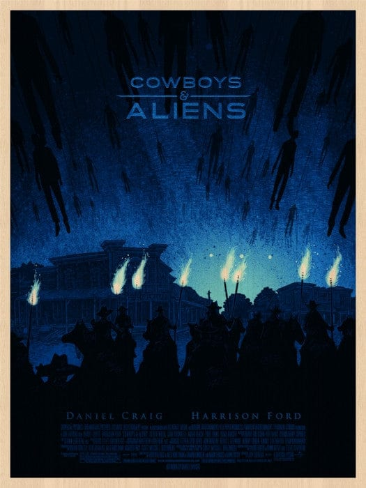 Cowboys and Aliens   Daniel Danger Wood Variant Daniel Danger poster