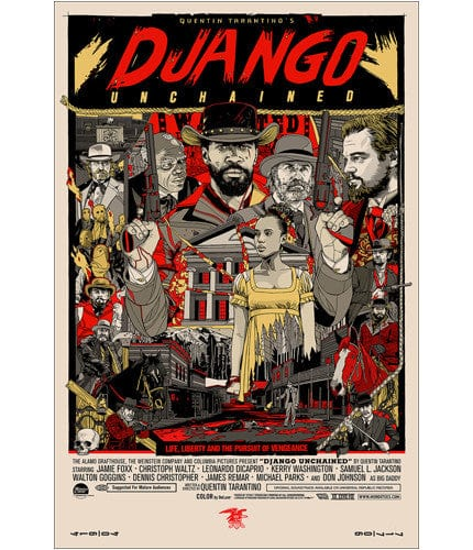Django Unchained Tyler Stout poster