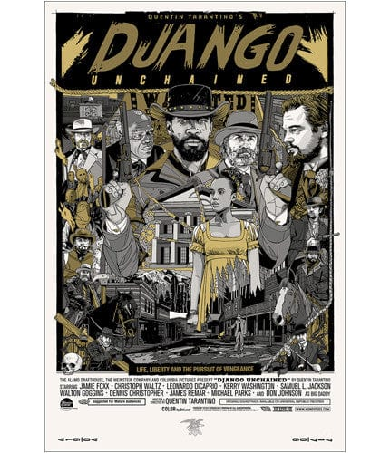 Django Unchained Variant Tyler Stout poster