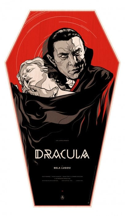 Dracula   Wood Coffin Variant Martin Ansin poster