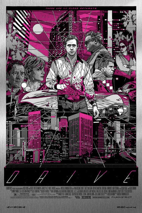 Drive (Cityscape) - Metal Variant-Tyler Stout-poster