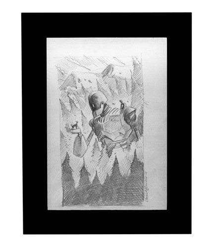 The Iron Giant Pencil Sketch Laurent Durieux OG