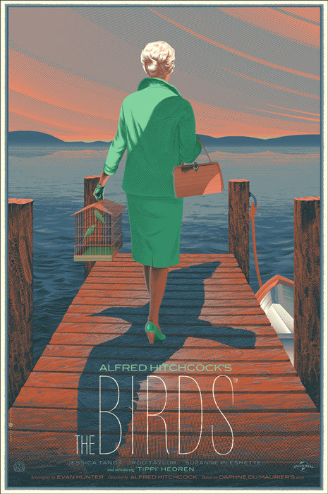 The Birds Here Comes Trouble Tippy on the Pier Laurent Durieux poster