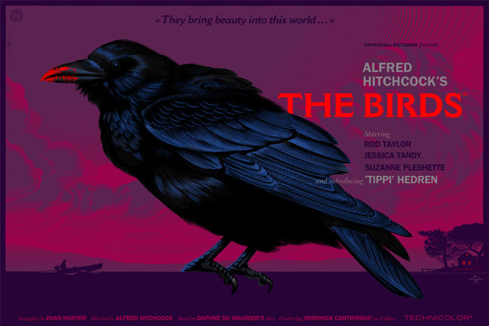 The Birds They Bring Beauty   Variant Laurent Durieux poster