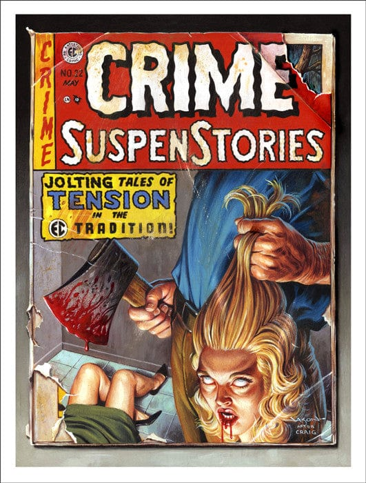 Crime SuspenStories #22 Jason Edmiston poster