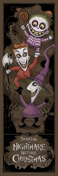 The Nightmare Before Christmas Lock Shock and Barrel Graham Erwin poster