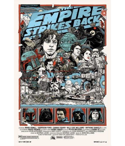 Empire Strikes Back Tyler Stout poster