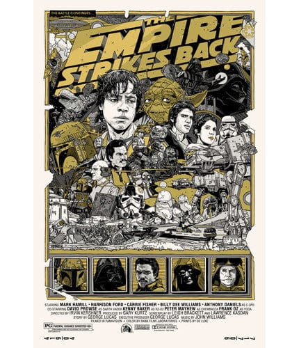 Empire Strikes Back  Variant Tyler Stout poster