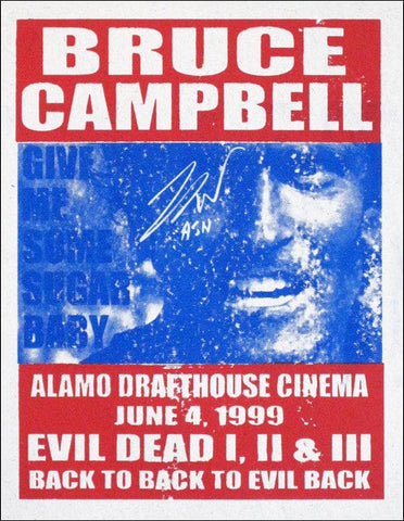 Evil Dead Trilogy Tim League poster