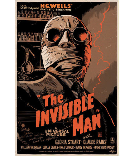 The Invisible Man   Francavilla Francesco Francavilla poster
