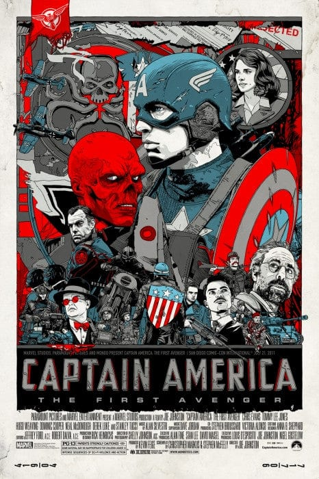 Captain America  SDCC Variant Tyler Stout poster