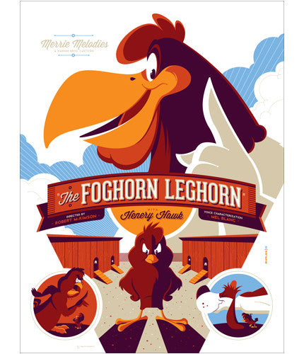The Foghorn Leghorn Tom Whalen poster