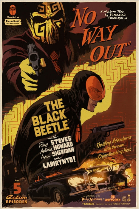 The Black Beetle Variant Francesco Francavilla poster