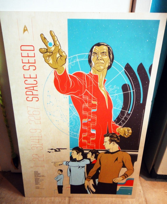 Space Seed  Wood Variant Martin Ansin poster