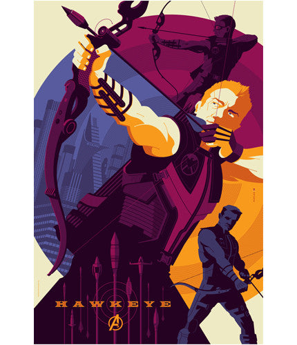 The Avengers Hawkeye Tom Whalen poster