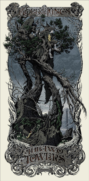 The Lord of the Rings The Two Towers Aaron Horkey poster