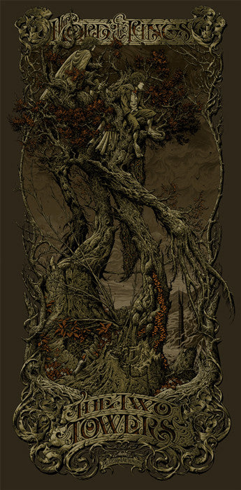 The Lord of the Rings The Two Towers Variant Aaron Horkey poster