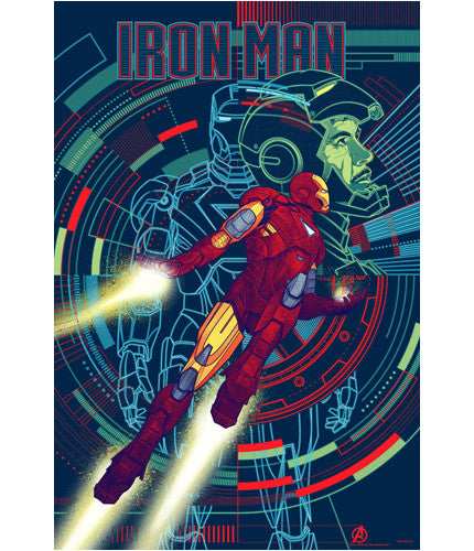 The Avengers Iron Man Kevin Tong poster