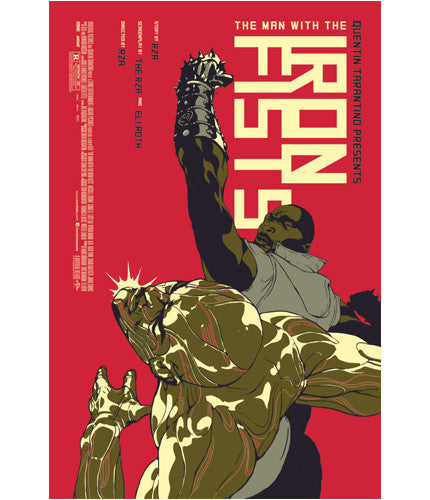 The Man With the Iron Fists Tomer Hanuka poster