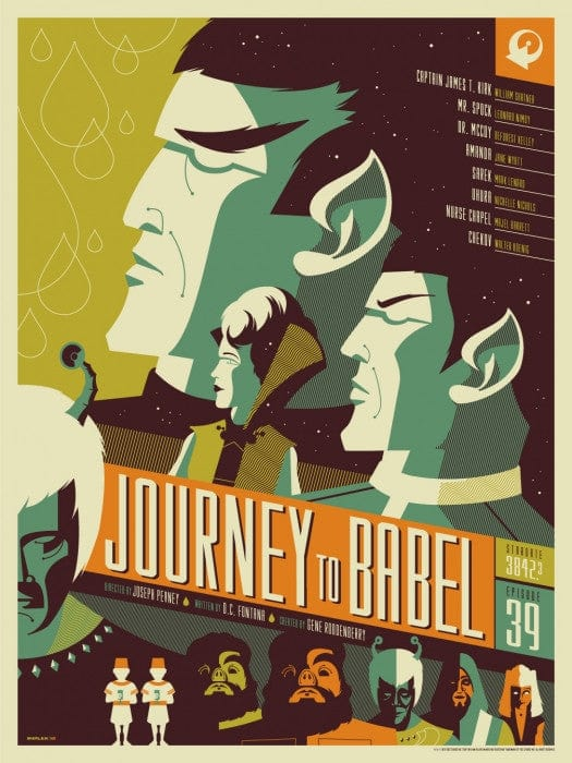 Journey To Babel Tom Whalen poster