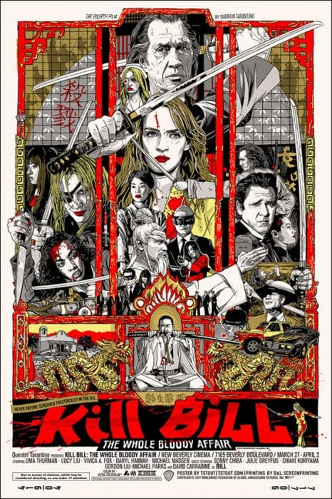 Kill Bill  Tyler Stout poster