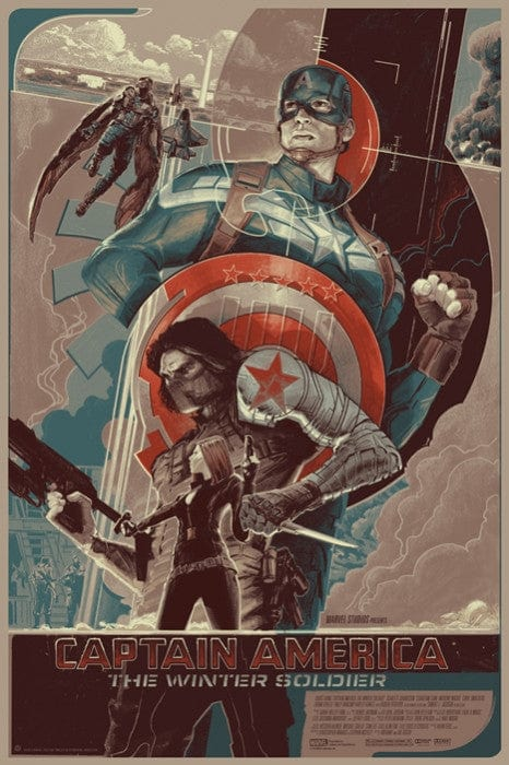 Captain America The Winter Soldier Variant Rich Kelly poster