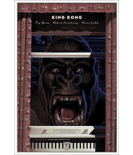 King Kong   Variant Laurent Durieux poster