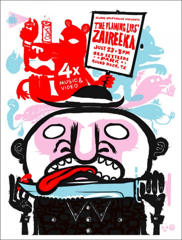 The Flaming Lips Zaireeka Little Friends Of Print Making poster