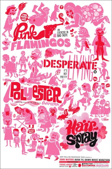 John Waters Movie Marathon Little Friends Of Print Making poster