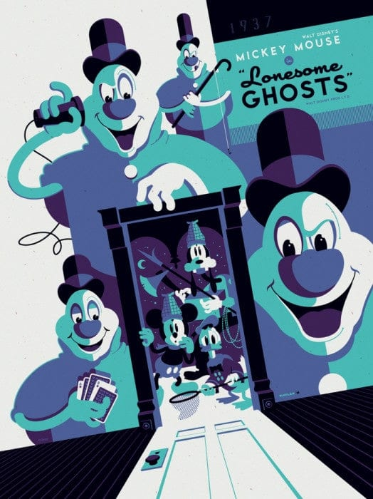 Lonesome Ghosts Tom Whalen poster