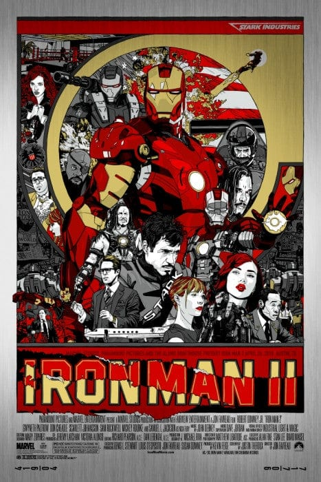 Iron Man 2  Metal Tyler Stout poster