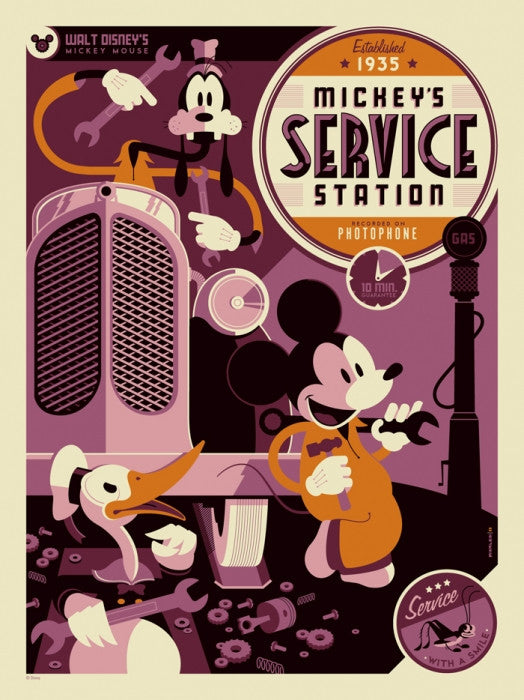 Mickeys Service Station Tom Whalen poster