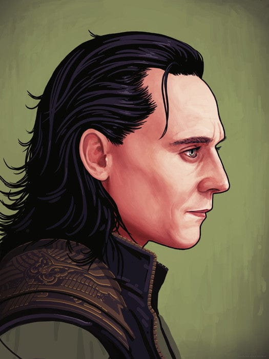 Loki Portrait Mike Mitchell poster