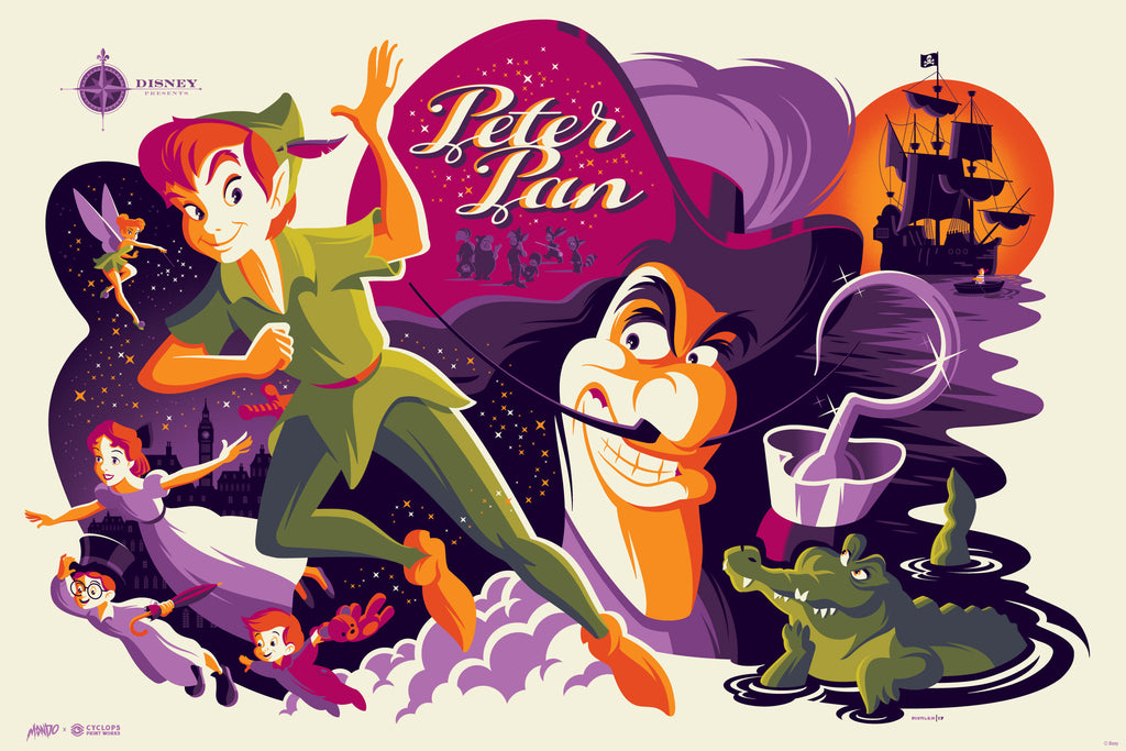 Mondo X Cyclops Print Works Print #20: Peter Pan
