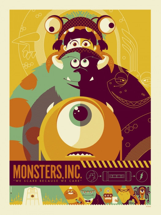 Monsters Inc Tom Whalen poster