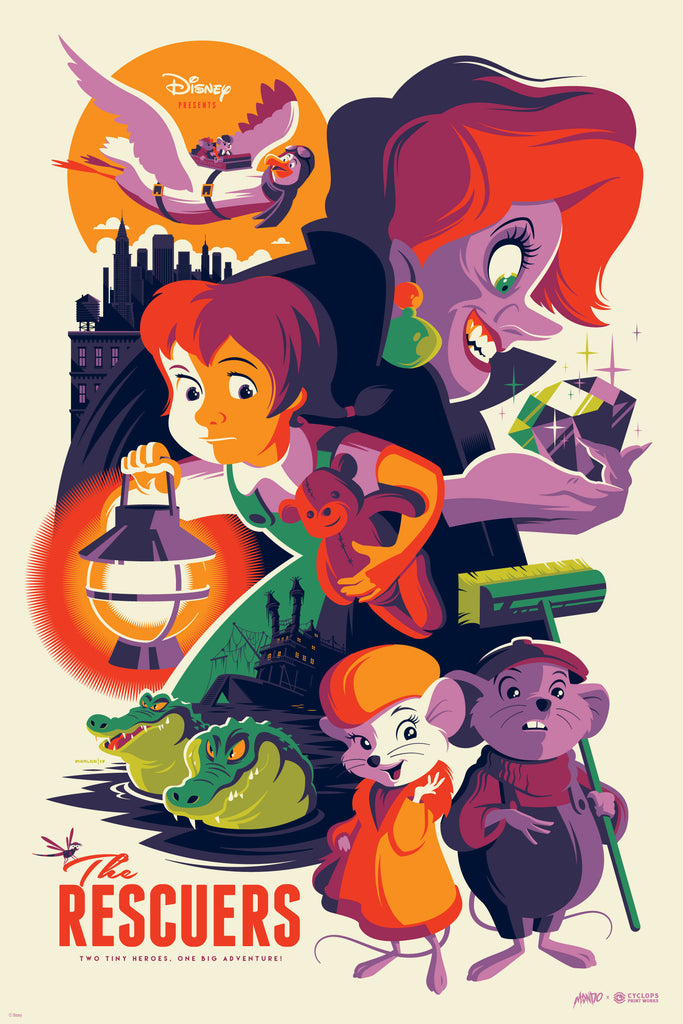 Mondo X Cyclops Print Works Print #26: The Rescuers