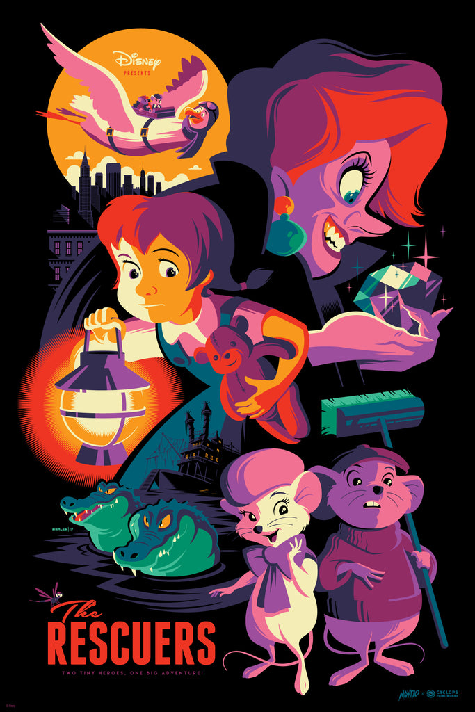 Mondo X Cyclops Print Works Print #26: The Rescuers (Variant)
