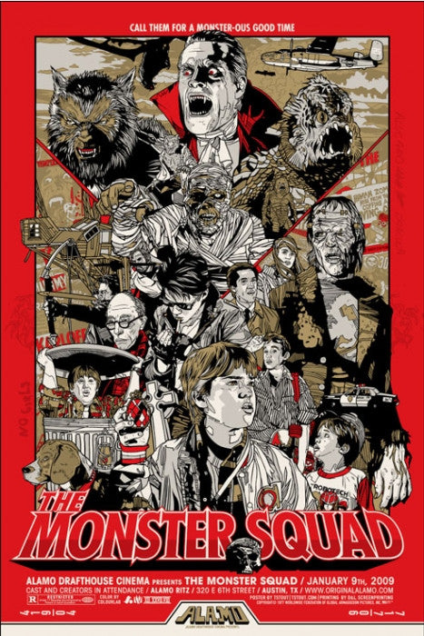The Monster Squad Tyler Stout poster